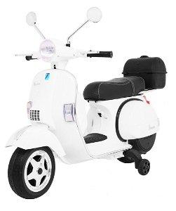 Dětská elektrická motorka Vespa bílá 3916
