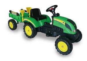 Šlapací traktor Branson s přívěsem zelený