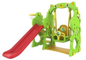 Dětská skluzavka s houpačkou - dinosaurus