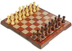 Dřevěné šachy malé 27 x 31 cm