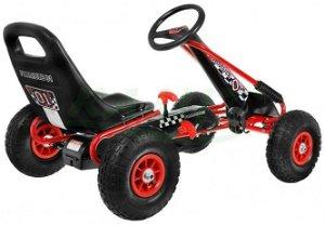 Šlapací čtyřkolka Go-Kart - červená
