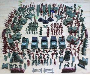 Sada plastových vojáčků s příslušenstvím 307 dílů