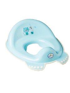 Dětské sedátko na WC protiskluzové Pejsek a Kočička modré Modrá