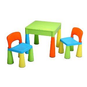 Dětská sada stoleček a dvě židličky NEW BABY multi color Multicolor