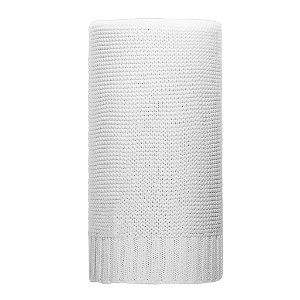 Bambusová pletená deka NEW BABY 100x80 cm bílá Bílá