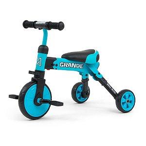 Dětská tříkolka 2v1 Milly Mally Grande blue Modrá