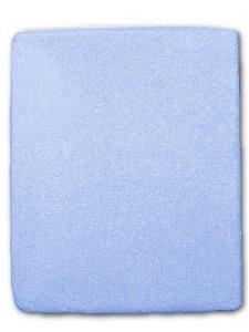 Froté prostěradlo do postýlky modrá Modrá