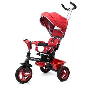 Dětská tříkolka Baby Mix 5v1 RIDER 360° bordó Růžová
