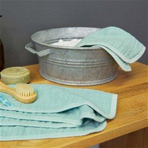Muslin Washcloth Set 3 pcs anthracite
