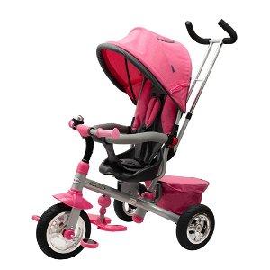 Dětská tříkolka Baby Mix 3v1 TYPHOON 360° růžová Růžová
