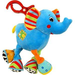 Dětská plyšová hračka s vibrací Baby Mix sloník Modrá