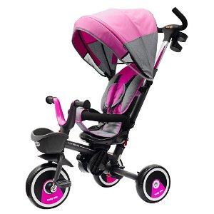 Dětská tříkolka Baby Mix 5v1 RELAX 360° růžová Růžová