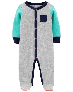 CARTER'S Overal na druky Grey chlapec 6m