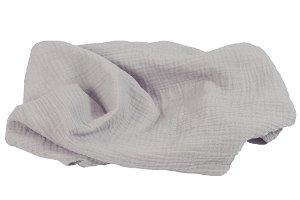 BABYMATEX Přikrývka bavlněná Muslin světle šedá 120x80 cm
