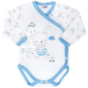 Kojenecké body s bočním zapínáním New Baby Bears modré Modrá 50