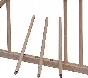 Dětská dřevěná ohrádka Scarlett BELA - přírodní, 100 x 100 cm