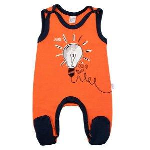 Kojenecké bavlněné dupačky New Baby Happy Bulbs Oranžová 68 (4-6m)