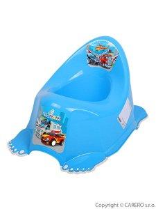 Hrající dětský nočník protiskluzový Autíčka modrý Modrá