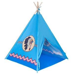 Dětský indiánský stan teepee PlayTo modrý Modrá