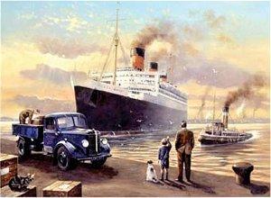 Royal Langnickel malování podle čísel - Loď v přístavu 40x30 cm