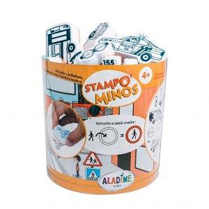 Aladine dětské razítka StampoMinos, Dopravní prostředky