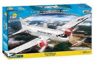 Cobi 5702 II WW Douglas C-47 Skytrain Dakota Berlin Airlift, 540 kostek