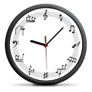 Froster Hudební nástěnné hodiny, průměr 30 cm