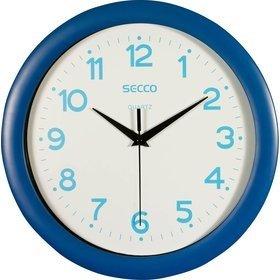 Secco Modré nástěnné hodiny, Průměr 28 cm