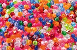 Playbox Plastové korálky krystal 250 kusů