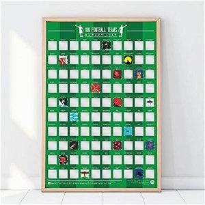 Stírací plakát 100 fotbalových týmů
