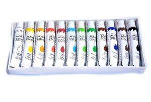 Akrylové barvy 12 ks á 12 ml