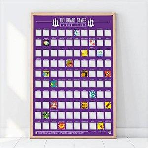 Stírací plakát 100 nejlepších stolních her