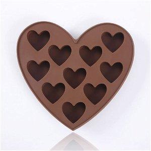 Silikonová forma na čokoládu - srdce