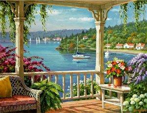 Royal Langnickel malování podle čísel - Veranda u jezera 40x30cm