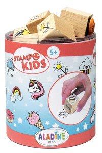 Aladine dětské dřevěné razítka StampoKids, Jednorožci