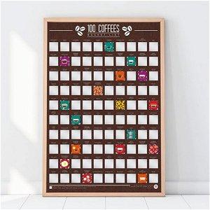 Stírací plakát 100 nejlepších káv