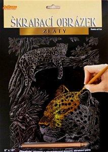 Škrabací obrázky 25 x 20 cm - Leopard