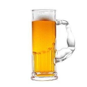 Pivní svalová sklenice, 620 ml.