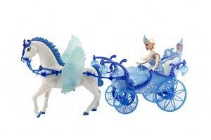 Panenka s královským kočárem na baterie, 56x30x19cm
