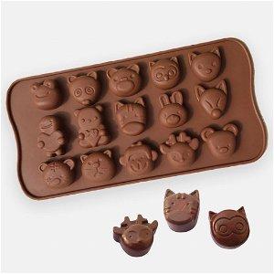 Silikonová forma na čokoládu - zvířátka