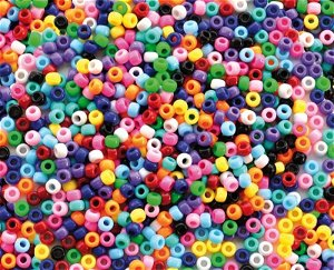 Korálky 1000 kusů, základní barvy