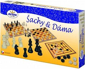 Detoa dřevěné Šachy, Dáma a Mlýn