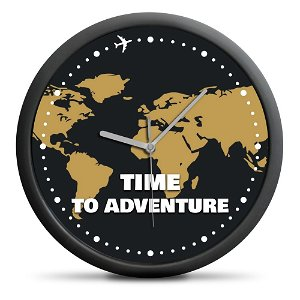 Nástěnné cestovní hodiny, průměr 30 cm