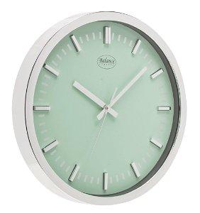 Balance Stříbrné nástěnné hodiny, průměr 30 cm