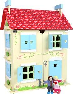 Small Foot dřevěný bílý domeček pro panenky 43x29x56cm