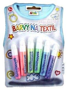 Perleťové konturovací barvy na textil 6 ks