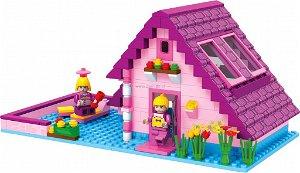 Stavebnice Dromader 24601 Růžový domeček, 277 dílků