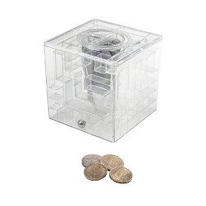 Labyrint na peníze, Průhledná plastová pokladnička