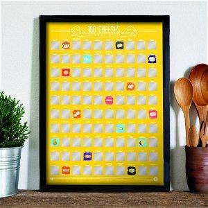 Stírací plakát 100 nejlepších sýrů, Bucket list