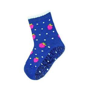 Sterntaler ponožky ABS protiskluzové chodidlo SUN jahůdky, modré 8022106